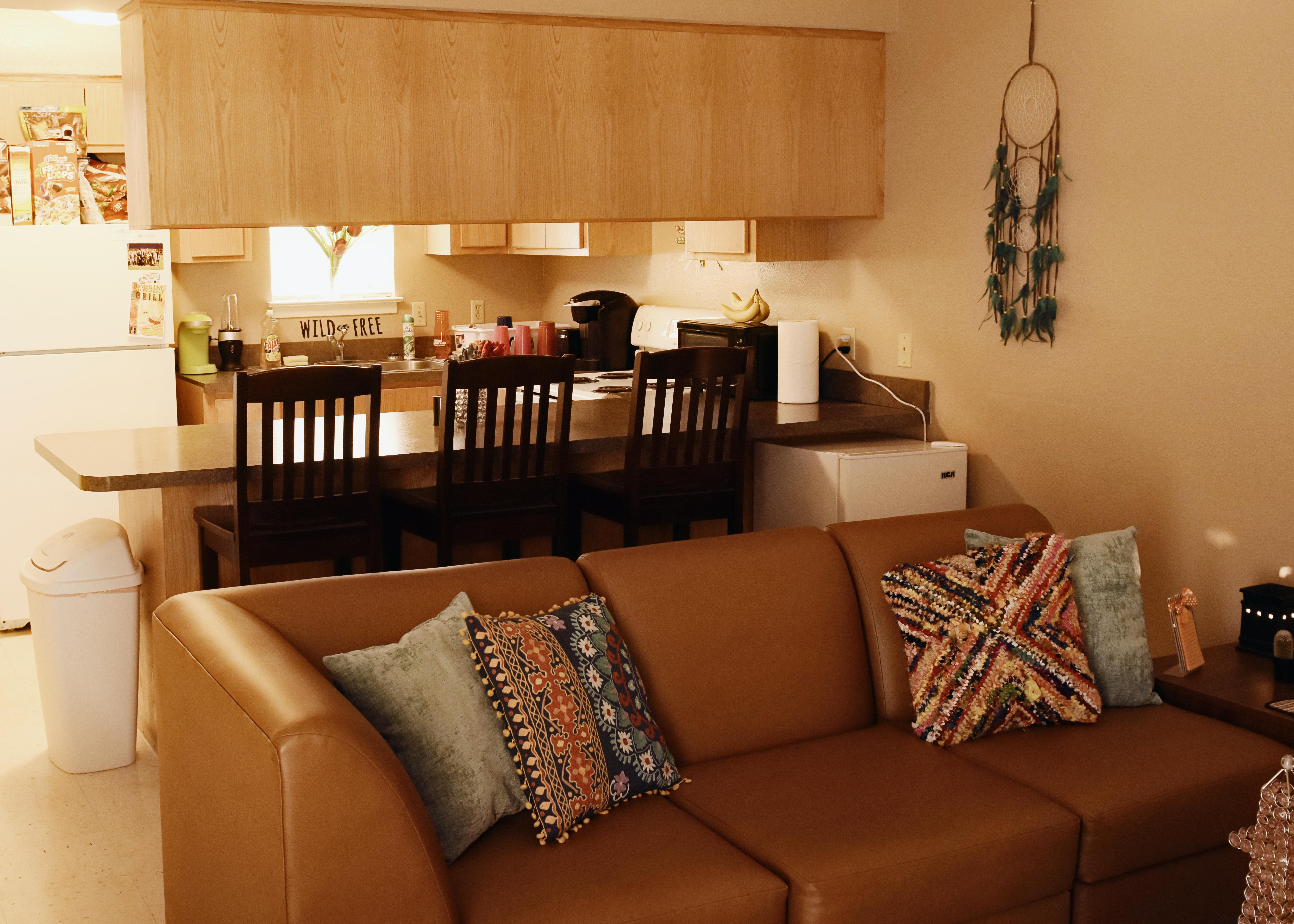 Each apartment is completely furnished and air conditioned.